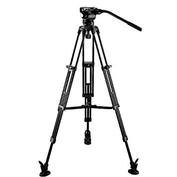 E Image 2 Stage Aluminum Tripod Legs With Gh03 Head Amazoncouk