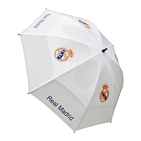 Real Madrid Tour Vent - Paraguas de golf, color blanco