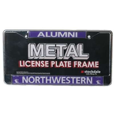Stockdale Northwestern Wildcats Alumni Metal License Plate Frame W/domed Insert