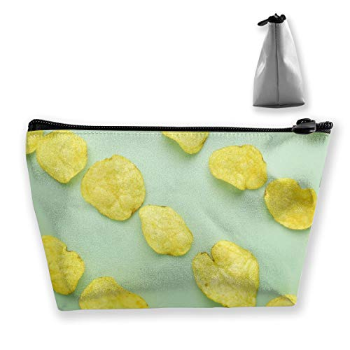 pengyong Potato Chip Makeup Bag Large Trapezoidal Storage Travel Bag Wash Cosmetic Pouch Pencil Holder Zipper Waterproof