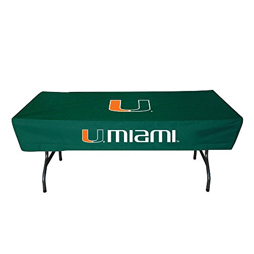 Rivalry Distributing RIV-RV269-4600 Miami Hurricanes NCAA Ultimate 6 Foot Table Cover -