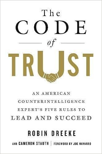 The code of trust an american counterintelligence experts five the code of trust an american counterintelligence experts five rules to lead and succeed robin dreeke cameron stauth joe navarro 9781250093462 fandeluxe Gallery