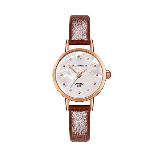 Women's Classic Quartz Watch, Simple Fashion dot dial Design Simulation Leather Strap Waterproof Analog Quartz Watch