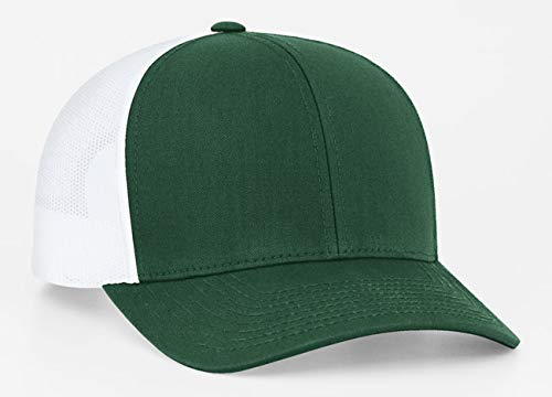 Pacific Headwear - 104C | Trucker Hat w/Adjustable Plastic Snapback Closure  (Single Hat, 6 Pack, or 12 Pack)