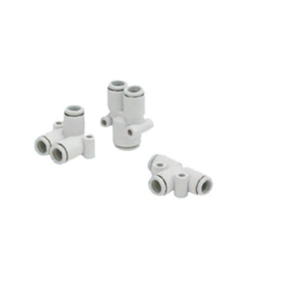 One-Touch Fitting; Union Y; 6mm Tube; 8mm Connection Diameter, Pack of 5