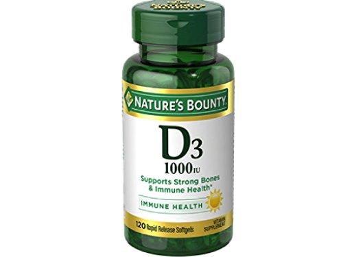 Nature's Bounty Vitamin D3 1000 IU Immune Health, 120 Softgels ( Pack of 4 )