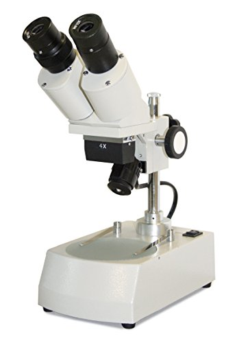 Parco Scientific Binocular Stereo Microscope, 4X Objective, 10X WF Eyepiece, 40X Magnification, Top and Bottom LED Illumination, Post-Mounted Stand, 110V by Parco Scientific