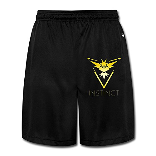 Team Instinct (Pokemon GO Inspired) - Yellow Vinyl Decal For Men NiceHeavyWeight Shorts Sweat Pants Comfortable - Vinyl Mens Shorts