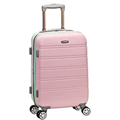 Travel Junkie 41UuDVK%2BeSL._SS247_ Rockland Melbourne Hardside Expandable Spinner Wheel Luggage, Mint, Carry-On 20-Inch