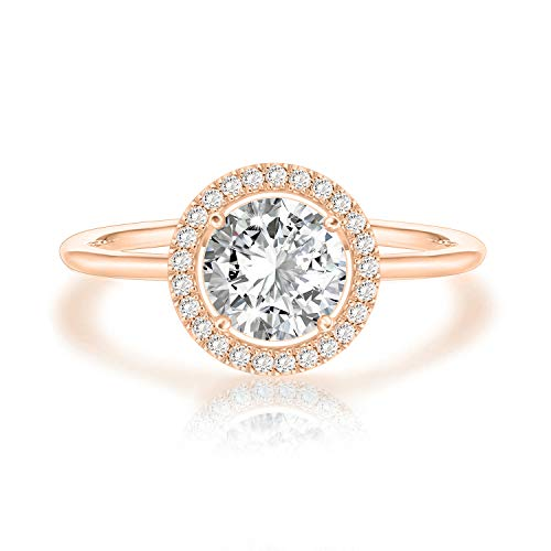 Swarovski Crystal 14K Rose Gold Plated Birthstone Rings | Rose Gold Rings for Women | Diamond Ring
