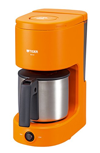 Tiger coffee maker stainless server type (for 1-6 cups) Orange ACC-S060-D