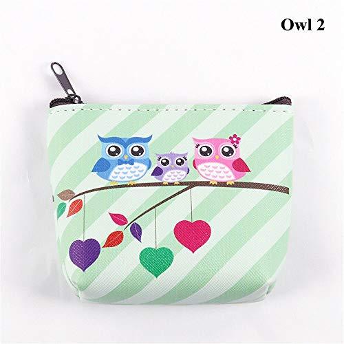 - Holder Unicorn Coin Purse Flamingo Mini Wallet Earphone Package Women Handbag (size - Owl 2)
