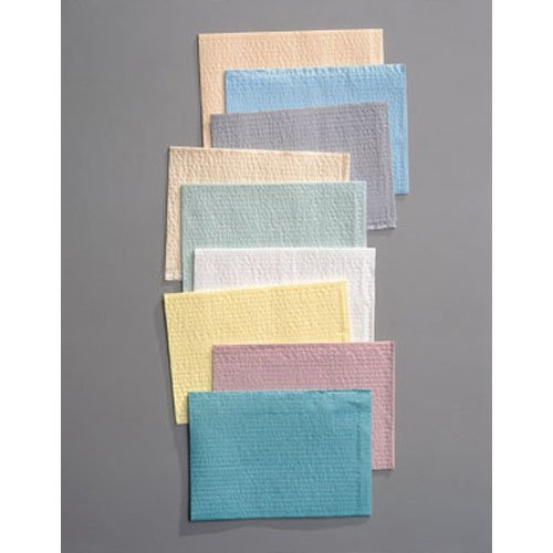 Towel, 3-Ply Tissue & Poly, Teal, 13'' x 18'' 500 pk