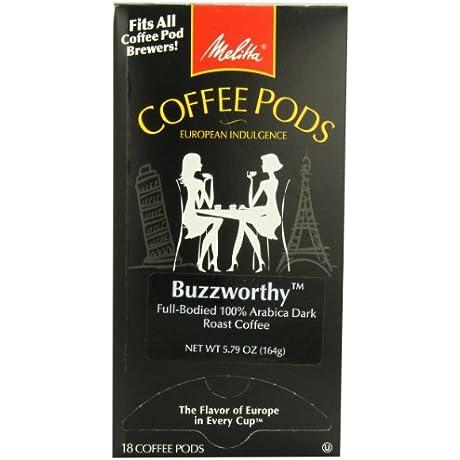 Melitta Coffee Pods Buzzworthy Dark Roast 18 Count Pack Of 4