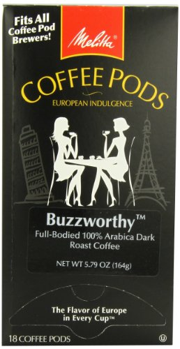 Buzzworthy Coffee Pods - Melitta Coffee Pods, Buzzworthy, Dark Roast, 18-Count (Pack of 4)