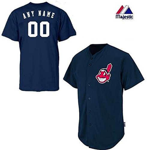 Adult Medium Cleveland Indians CUSTOMIZED Major League Baseball Cool-Base Replica MLB Jersey