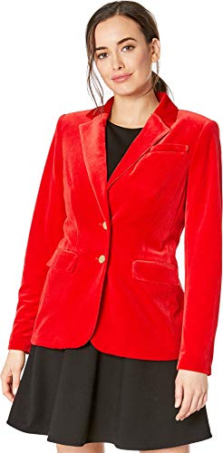 - Calvin Klein Women's Velvet Button Front Jacket Red 0