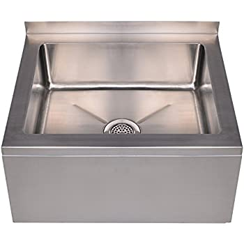 Whitehaus Collection WHMS2424 Noahu0027s Collection Sink, Brushed Stainless  Steel