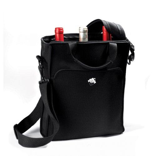 (Wine Enthusiast 3-Bottle Neoprene Wine Tote Bag)