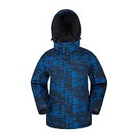 Mountain Warehouse Shadow Mens Printed Ski Jacket - Warm Snow Jacket Cobalt Medium