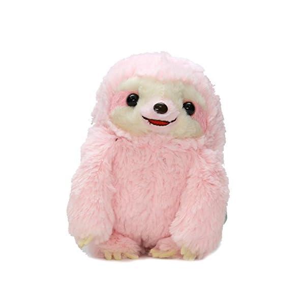 Amuse Sloth Plush Namakemono Mikke Nakamatachi Momoko (Pink) - Sloth Plush 5.1&Quot; Height - Authentic Kawaii From Japan -
