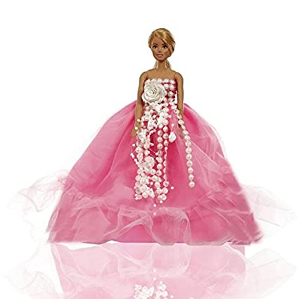 Buy Aglare Ball Gowns Packing Pouch With Pink Dress Barbie Doll Not