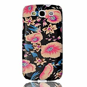 TOPQQ Flowers Embossment Painting Pattern Plastic Hard Back Case Cover for Samsung Galaxy S3 I9300