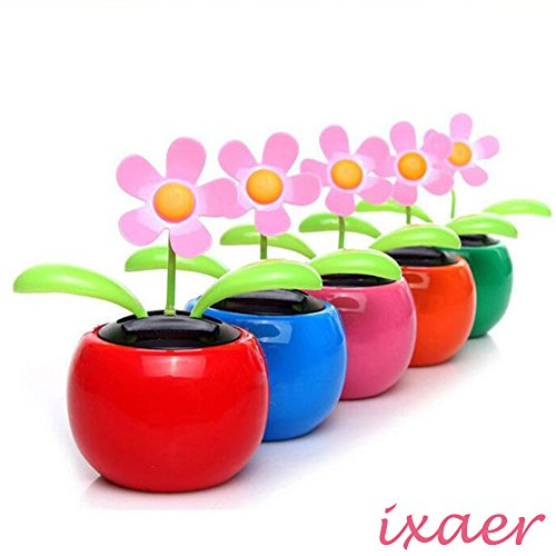 Solar Powered Dancing Sunflower/Flip Flap Toy Flower Bobble Plant Pot/Solar Power Flip Flap Flower Plant/Swing Auto Dance Toy.