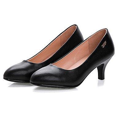 à 12 Talon Chaussures black formelles formelles Chaussures Femme plus ggx Noir LvYuan amp; cm Automne Printemps Cuir Gros Chaussures Talons FnZtCx