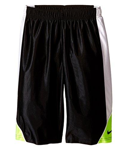 Nike Slam Dunks (Nike Kids Dunk Shorts Little Kids/Big Kids Black/White/Volt/Black Boy's Shorts Size: Large)