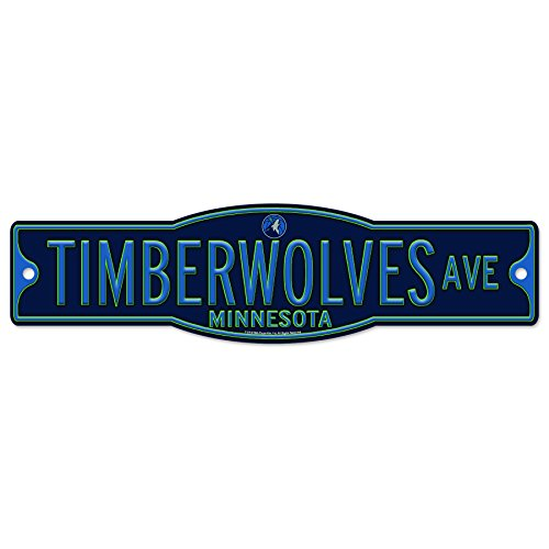WinCraft Minnesota Timberwolves Basketball Plastic 4 x 17 Street Sign by WinCraft