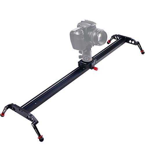 Camera Video Slider, ASHANKS 39''/100cm 4 Ball-bearings Camcorder Tracking Rail System for DSLR,Wedding Shooting,Sony and Gopro and Youtuber Film-making by ASHANKS