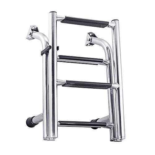 White Water B00361 Stainless Compact Transom Stern Ladder - 4 -