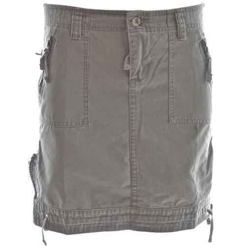 Womens Safari Sidewinder Cargo Skirt 52001  Ladies 100percent Cotton Zipped Trim & Pockets Large 11 Sunset Shadow Grey