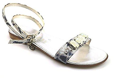 cesare-paciotti-10-us-40-eu-sandals-blue-silver-leather-textile-as911
