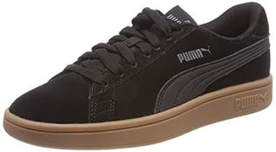 PUMA Men's Puma Smash V2 Blk Shoes, Puma Black-puma Black, 6 US