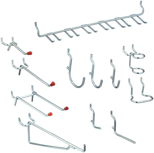 National Hardware S819-841 CD8377 51 Piece Peg Board Hook Kit in Zinc (Board Pegs)