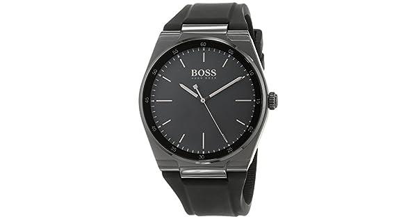 7ea7a9eab Hugo Boss 1513565 Men's Quartz Watch, Analog Display and Silicone Strap,  Black: Amazon.ae: RIVOLI_uae