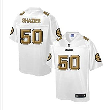 competitive price b7467 2893e LoVe-SpOrt Steelers #50 Ryan Shazier White Men's Customized ...