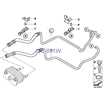 Amazon Com Bmw Genuine Radiator Transmission Oil Cooler Line Return