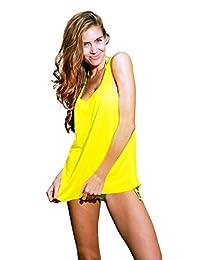 Ingear Solid Raw Edge Tank Dress