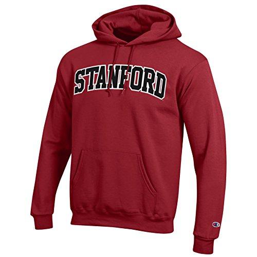 Champion Men's Eco Powerblend Hooded Sweat Shirt, Cardinal, Small