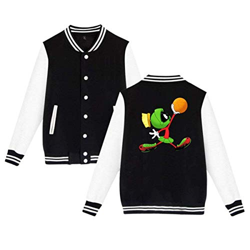 Marvin The Martian Play Basketball Mens & Womens Particular Hoodie Baseball Uniform Jacket Sport Coat Black
