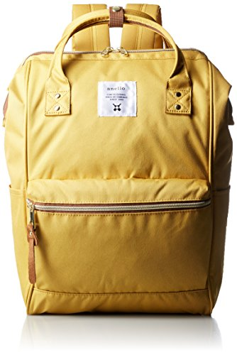 - Japan Anello Backpack Unisex MINI SMALL Rucksack Waterproof Canvas Bag Campus (YELLOW)