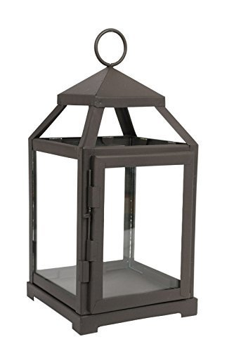 Hosley S 12 Quot High Clear Glass Candle Holder Iron Lantern