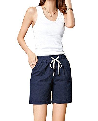Corti Runyue Pantaloni Donna Pantaloncini Sportivi Blue Royal Pigiama Estivi Eleganti 0wq0rpS