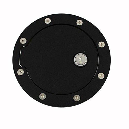 6044KL Black Billet Aluminum Ring and Locking Fuel Door