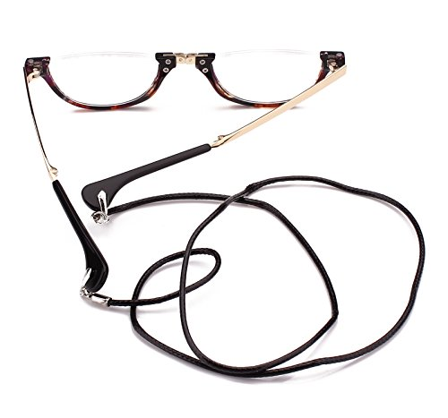 1e54240b473 Jual Agstum Mens Womens Half Moon Foldable Reading Glasses with Case ...