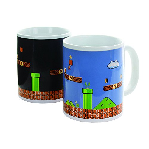 Paladone Super Mario Brothers Heat Changing Ceramic Coffee Mug - Collectors Edition -