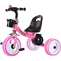 3 Wheel LED Lighting Trike Ride On Tricycle Kid's Bike Stroller, Pink